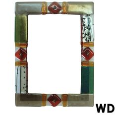 Fused Glass Picture Frame- 5x7