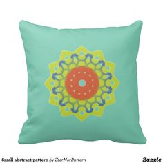 Small abstract pattern throw pillows