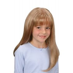 Emily (Mono Top) Wig From Juniors Collection By Jon Renau - Children's Wigs - Wigs Long Wigs, Short Wigs, Curly Wigs, Human Hair Wigs, Blonde Lace Front Wigs, Blonde Wig, Childrens Wigs, Kids Wigs, Beauty Hair Extensions