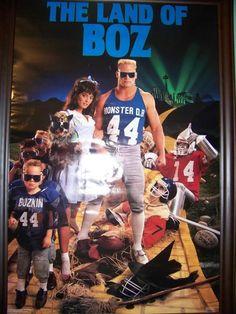 Vintage NFL Posters Brian Bosworth Linebacker Seattle Seahawks Oklahoma Sooners
