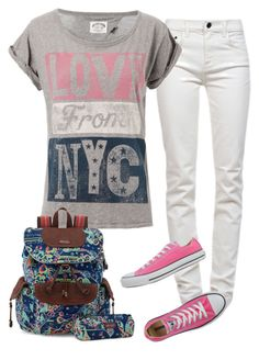 """""""outfit"""" by minpenny ❤ liked on Polyvore featuring Proenza Schouler, Tommy Hilfiger, Converse and Sakroots"""
