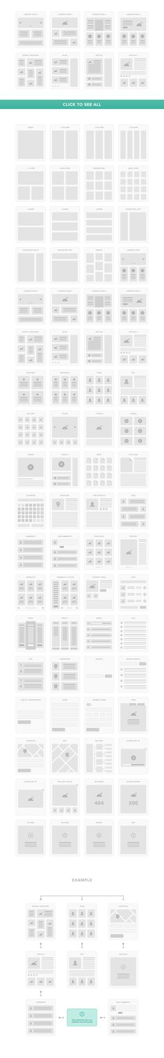 UI Tiles: Website Flowcharts by PixelBuddha on Creative Market