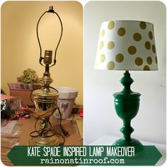 This simple Kate Spade inspired lamp makeover is chic and easy to make. Its also budget friendly.