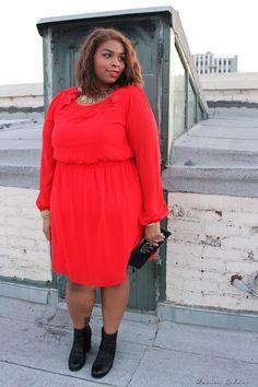 Blog mode femme ronde : les 10 blogueuses rondes quil faut garder à loeil #9 @Emily Lann Zelie #red #plussize #fatshion #curvyandchic #psfashion