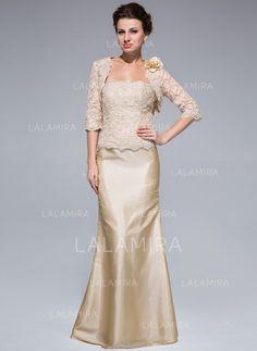 5e3108394e92d Trumpet/Mermaid Taffeta Lace Sleeveless Strapless Floor-Length Zipper Up  Mother of the Bride Dresses (008211466)