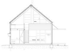 Casa Galpon - Cazu Zegers - Tecno Haus Autocad, Floor Plans, Wood, Projects, Fresca, Prefab Homes, Home Plans, Log Homes, Decking