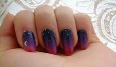 Gradation nails - Creative DIY Nails Ideas