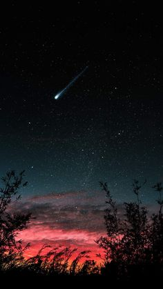 Sunset Shooting Star IPhone Wallpaper - IPhone Wallpapers