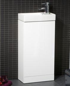 Space 40cm White Floor Standing Unit & Cloakroom Basin