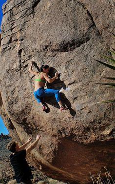 Joshua Tree Bouldering - Natalie Duran #climbing