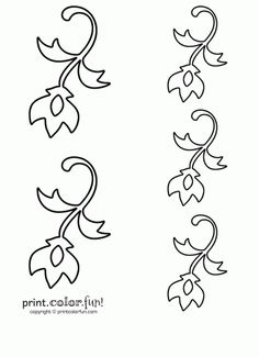 Flower Flourish Stencil Coloring Page