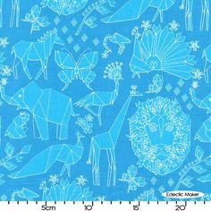 Origami Oasis Tamara Kate Fold in Blue Origami Oasis Tamara Kate Fold in Blue Michael Miller fabric for patchwork quilting & dressmaking � Eclectic Maker [DC6399-BLUE] : Patchwork, quilting and dressmaking fabric, patterns, haberdashery and notions from Fabric for Patchwork, Quilting and Dressmaking from Eclectic Maker