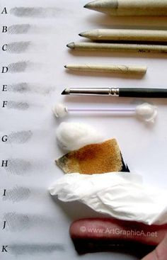 shading tools, methods for blending pencil