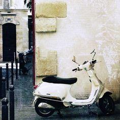 Paris Photography, Paris Decor, Paris Vespa,  Paris Art, Wall Art, 8x8 fine art photography print on Etsy, $30.00