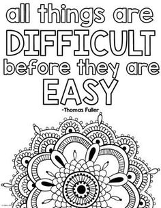 All quotes coloring pages  Use as a practice reward Color a