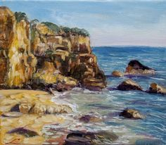 FINEARTSEEN - Sicilian rocks by Elena Sokolova. Find the perfect artwork for your home or space. An original seascape painting available on FineArtSeen l The Home Of Original Art. Enjoy FREE DELIVERY on every order. Art for art lovers, interior designers and project managers. << Pin For Later >>