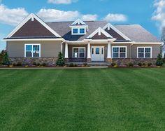 new craftsman homes | Craftsman style ranch floor plan by Ohio custom home builder Wayne ...