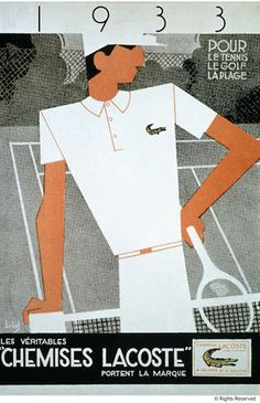 Lacoste 80 ans anniversaire collection unexpected collection edition....réépinglé par Maurie Daboux .•*`*•. ❥