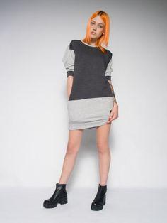 Melange sweat dress Sweat dress from cotton Luxury streetstyle.