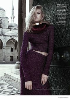 Dauphine McKee in Rich Jewel Tones for GLOW by Arkan Zakharov  #Istanbul #Turkey