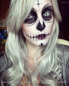 Katrina makeup by Pelirroja Malvada  www.pelirrojamalvada.com IG @pelirroja_malvada  #halloween #katrina #sugarskull #diadelosmuertos #makeup #maquillaje #makeupartist #calavera #skull