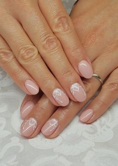 Pale Nails, Pink Gel Nails, Pedicure Nails, Great Nails, Perfect Nails, Bridal Nails Designs, Nail Designs, Hair And Nails, My Nails
