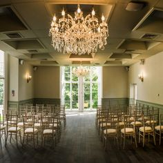 Now that's a chandelier! The elegant ceremony room at Glamorgan wedding venue Bryngarw House. #glamorgan #bridgend #wales #welsh #weddingvenue #venue #wedding #weddingday #chandelier #civilceremony #weddingceremony #elegant #lighting #weddingaisle #aisle