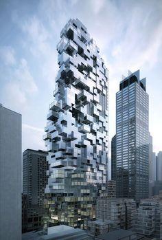 a      f      a      s      i      a: MVRDV Module Architecture, Architecture Unique, New York Architecture, Futuristic Architecture, City Puzzle, New York Buildings, Amazing Buildings, Built Environment, Building Design