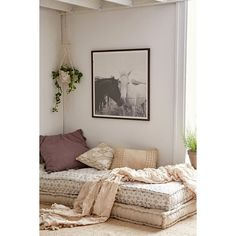 Rohini Daybed Cushion (195 CAD) ❤ liked on Polyvore featuring home, home decor, throw pillows, indigo throw pillows and urban outfitters