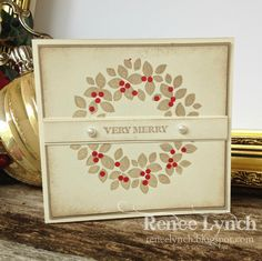 Here are my Twelve creations of Christmas 12 days of Christmas I love this clean and simple card. Such a great card for a las...