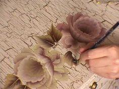 One Stroke painting. Part2, Tagil roses. Tatiana Kudryavtseva