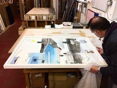 Our expert #framing team has been hard at work prepping beautiful original collage and silkscreen works from @bonnieandclydeart and…