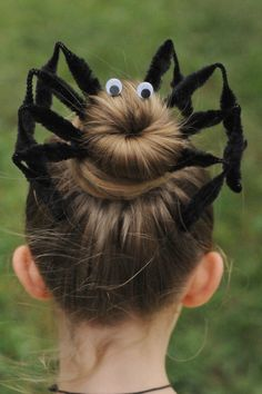 Halloween Spider Bun Hair Kit by RubyLavender on Etsy