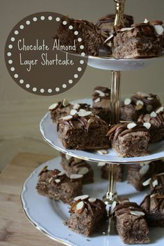 Chocolate Almond Layer Shortcake Recipe, so easy to make and a big hit at dessert time.