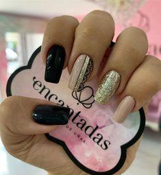 50 perfect pink and white nails for brides 20 Matte Nails, My Nails, Acrylic Nails, Coffin Nails, Silver Nail Designs, Nail Art Designs, Gorgeous Nails, Pretty Nails, Bride Nails