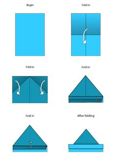 Easy Origami Instructions – Hat  #Origami #free #printable #fine #motor #movement #activity