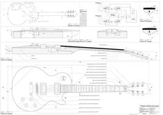 Set of 4 Electric Guitar Plans - Les Paul, Les paul Double Cutaway, Firebird Studio, Flying V - all Full Scale - Actual Size- Making Guitar Gibson Les Paul, Gibson Sg, Gibson Electric Guitar, Electric Guitar Kits, Gibson Guitars, Electric Guitars, The Plan, How To Plan, Electronic Music Instruments