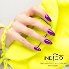 New Gel Brush, Double Tap if you like #mani #nailart #violet Find more Inspiration at www.indigo-nails.com