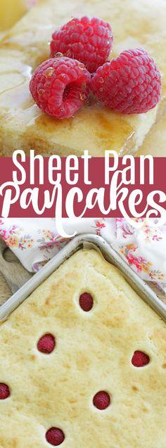 Sheet Pan Pancakes - perfect for meal prep #pancakes #sheetpan