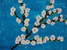 Spring Art, Spring Crafts, School Staff, Spring Activities, Tree Crafts, Art Plastique, Teaching Art, Vincent Van Gogh, Techno