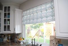 Stenciled Faux Roman Shades