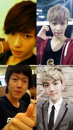 Before and After Debut #3: Lay and Baekhyun