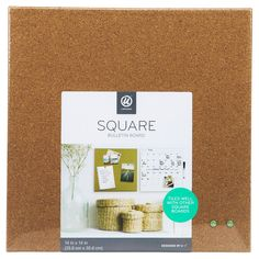 This U Brands frameless cork square is a perfect and functional solution for the frequent usage areas of your home, office, school classroom, any commercial space. Pin your favorite notes, pictures, documents and more.