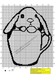 Lapin-tasse, (Rabbit in Cup), designed by Le blog de Passionbroderie77 blogger, Corinne.