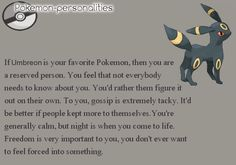 Where there's a Will, there's a way. — #197, Umbreon Umbreon gets me.