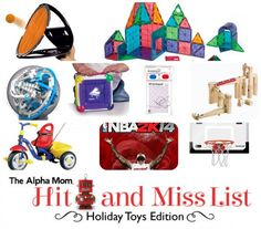 Holiday Toy Hit & Miss List | Alpha Mom