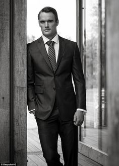 Thom Evans: This 28-year-old former rugby hunk is the face of an autumn/winter 2013 campaign for new menswear tailoring range Aston Martin Collection by BespokeHQ, which sees him smoulder in a series of exclusive campaign images. And whilst his female fans are more accustomed to seeing him flaunt his abs in photo shoots, the former Scottish fullback proves he can pull off the suited and booted look too.