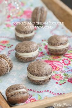 Cookies and Cream Double Stuf Macarons by Picky Palate