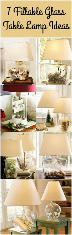 7 Fillable Glass Table Lamp Ideas