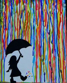 An Easy Acrylic Painting for Beginners (Pour Water Drawing)This is an easy acrylic painting for beginners. The video is a step by step tutorial on how to make this colorful Rainbow Rain painting.Easy Watercolor Paintings for Beginners - Bing imagesК Rain Painting, Easy Canvas Painting, Simple Acrylic Paintings, Canvas Paintings, Sunrise Painting, Easy Paintings To Copy, Acrylic Painting For Kids, Fall Paintings, Canvas Art